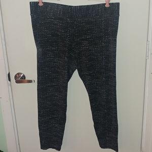 ANN TAYLOR BLACK WHITE LEGGINGS PANTS SIZE XL